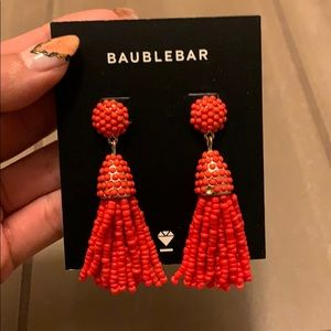 Baublebar Red Tassle Earrings